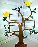 Семейное дерево с фоторамкой декорированное
