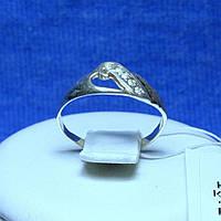 Срібне кільце з цирконами, родоване кс 151