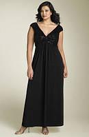 Длинное платье большого размера без рукавов с лифом с паетками
