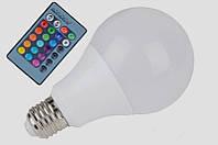 LM735 Лампа Lemanso св-ая E27 RGB 3W 210LM с пультом 85-265V (48*92mm)