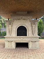 Печи и камины (облицовка архитектурными элементами из шамотной керамики)