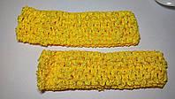 Ажурные повязки 4 см желтая