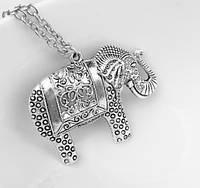 Подвеска Индийский Слон/бижутерия/ цвет серебро