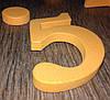 Часы интерьерные настенные с арабскими цифрами (диаметр 0,5 - 0,7 м) оранжевые матовые [Пластик], фото 3