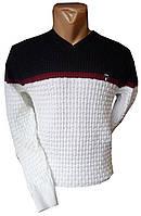 Мужской свитер Ziro, S-M-L-XL, белый, Турция, оптом