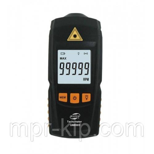 Безконтактний лазерний тахометр BENETECH GM8905 (50-500 мм) (2.5-99999RPM) з запам'ятовуванням MAX, MIN, LAST, AVG
