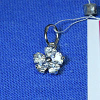 Кулончик из серебра Цветок с камнями 3270