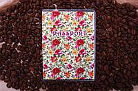 Обложка на паспорт «Розы красные с желтыми» kbp-3