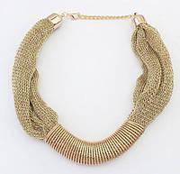 Золотисте кольє, біжутерний сплав / Женское ожерелье колье золотистое tb1186