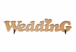 Заготівля напис WEDDING МДФ 45*12см ROSA Talent