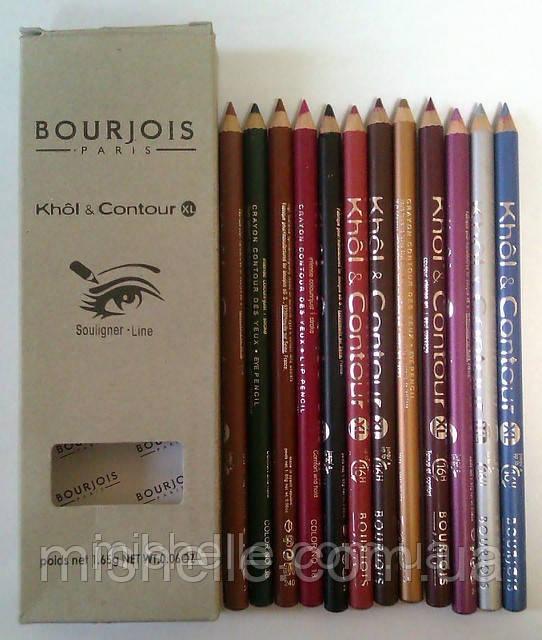 Контурные карандаши для губ и глаз Bourjois khol & contour xl - Mishelle Beauty в Харькове
