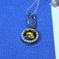 Серебряный кулон для девушки с камнем 31094