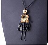 Подвеска Кукла Лола в золоте/бижутерия/цвет черный, фото 3