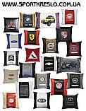 Подушка декоративная в автомобиль с вышивкой логотипа Порше, фото 8