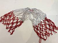 Сетка баскетбольная двухцветная нейлон (пара) 12 петель
