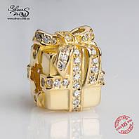 """Серебряная подвеска-шарм Пандора (Pandora) """"Бесценный подарок"""" для браслета"""