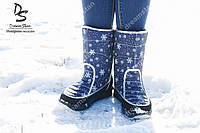 Женские дутики Аляска синие ( Код : ТМ-101)