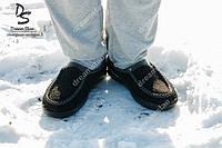 Мужские суконные бурки черные ( Код : Дедуш-01ДС), фото 1