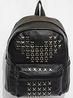 Рюкзак кож.зам шипованный черный, фото 1