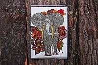 Обложка на паспорт «Слон» kbp-17