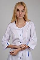 Медицинский халат с синими вставками