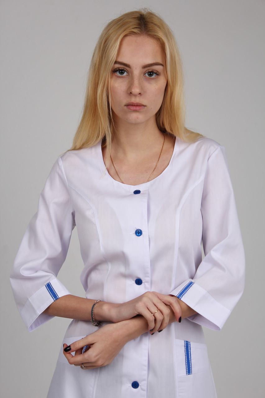 f92993bcf69c4 Медицинский халат с синими вставками - Интернет магазин одежды Жасмин. в  Хмельницком