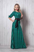 Длинное платье мод 387-2, бирюза размеры 50,52,54, фото 1