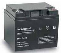 Герметичная свинцово-кислотная аккумуляторная батарея серии SPb тип SPb 12-40 Ач SUNLIGHT (Греция).
