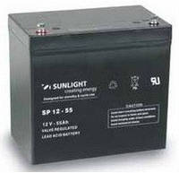Герметичная свинцово-кислотная аккумуляторная батарея серии SPb тип SPb 12-55 Ач SUNLIGHT (Греция).