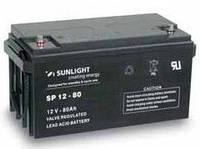 Герметичная свинцово-кислотная аккумуляторная батарея серии SPb тип SPb 12-80 Ач SUNLIGHT (Греция).