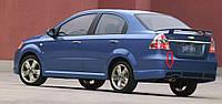 Накладка на задний бампер ( губа, юбка) Chevrolet Aveo T250 2005-2011 г.в. в стиле GM