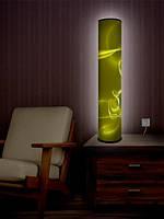 """Дизайнерский торшер-светильник 105 см """"Желтый Эфир  """""""