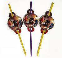 """Коктейльные трубочки с гофрой """"Лего Ниндзяго"""", 8 шт./уп."""
