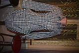 Черно-белое платье рубашка, туника в клетку, фото 3