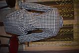Черно-белое платье рубашка, туника в клетку, фото 4