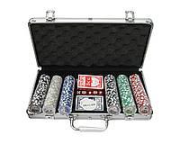 Покерный набор в алюминиевом кейсе на 300 фишек с номиналом №300n
