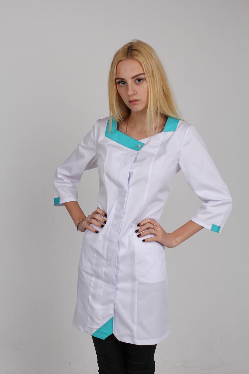 ce765433f7ff5 Медицинский халат с цветной вставкой - Интернет магазин одежды Жасмин. в  Хмельницком