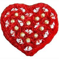 """Композиция из конфет """"Тебе, любимая!"""" цвет красный"""
