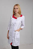 Красивый халат с цветной вставкой , фото 1