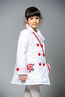 Пальто детское белое из плащевки