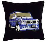 Автомобильная Подушка сувенирная с вышивкой силуэта вашего авто, фото 3