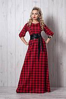 Длинное платье мод 387-1, красное , размеры 46, 50,52,54, фото 1