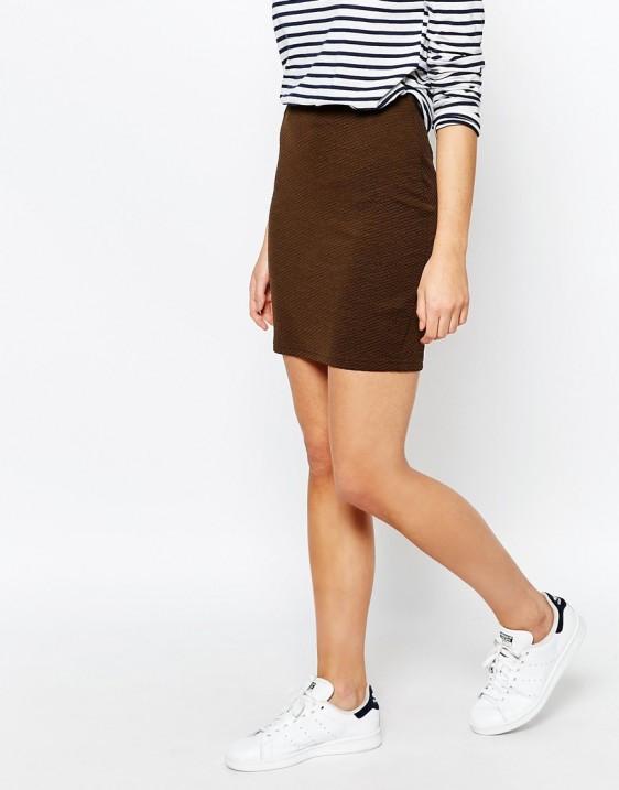 Текстурная мини юбка New Look