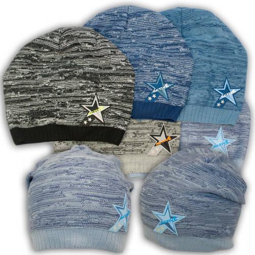 Вязаная шапка с вышивкой, для мальчика,W22