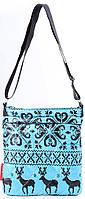 Привлекательная сумка -планшет из болоньи POOLPARTY pool-55-blue синий