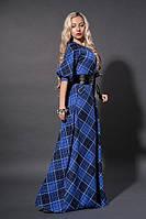 Длинное платье мод 387-4,електрик, размеры 40,46,48,50, фото 1