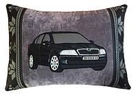 Автомобильная Подушка с логотипом и Вашим силуэтом авто в машину, подарок мужчине