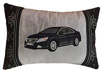 Автомобильная Подушка с логотипом и Вашим силуэтом авто в машину, подарок автолюбителю