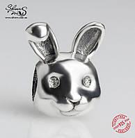 """Серебряная подвеска-шарм Пандора (Pandora) """"Замечательный кролик"""" для браслета"""