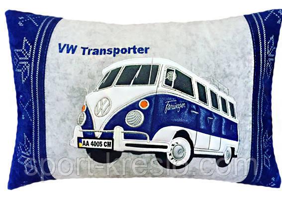 Подушка автомобильная сувенир в машину с изображением Вашего авто WV